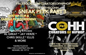 Curators of Hip Hop event Live in Newark ,Delaware with performances by Al Great, Jay Verze, Ellis and more